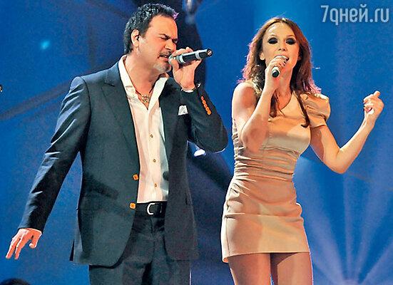 Валерий Меладзе с  Альбиной Джанабаевой