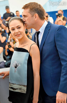 Владимир Вдовиченков с  Еленой Лядовой на Каннском кинофестивале. 2014 г.