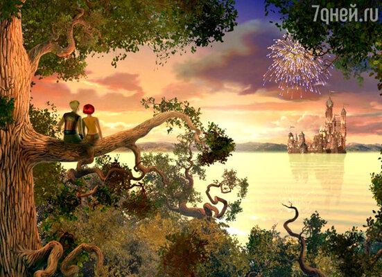 Кадр из мультфильма «Наша Маша и волшебный орех»