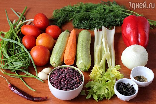 Суп с фасолью: пошаговый фоторецепт