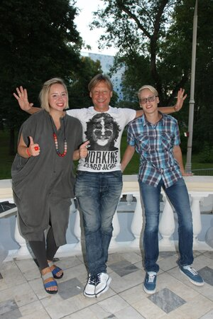 Дмитрий Харатьян с дочерью Сашей и сыном Ваней