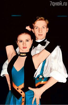 С одним из первых партнеров по парному катанию Максимом Качановым. 1996 г.
