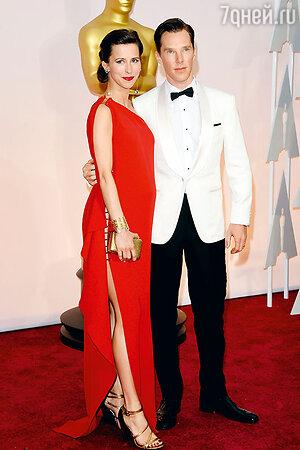 Бенедикт Камбербэтч с женой