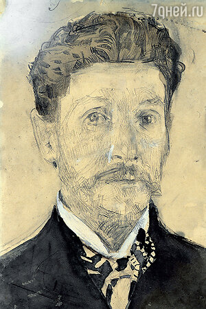 Фото репродукции автопортрета М. Врубеля. 1904—1905 гг. Государственная Третьяковская галерея
