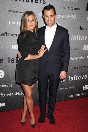 Дженнифер Энистон и Джастин Теру на премьере нового сезона сериала «Оставленные»