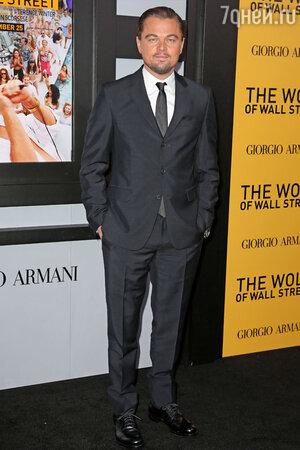 Леонардо Ди Каприо на премьере фильма  «Волк с Уолл-стрит»