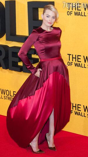Марго Робби  на премьере фильма  «Волк с Уолл-стрит»
