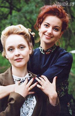 С Екатериной Никитиной в сериале «Московская сага»,  2004 год