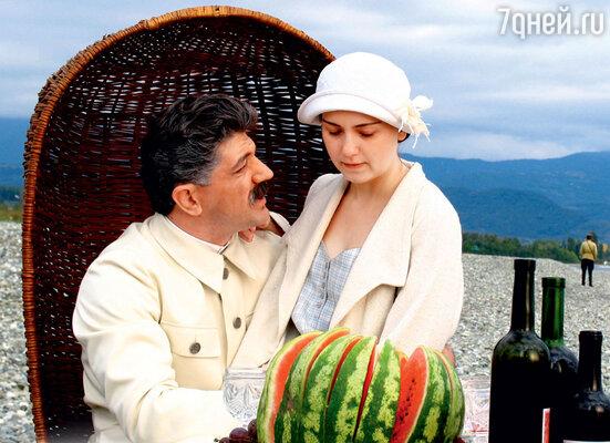 С Дутой Схиртладзе в фильме «Жена Сталина». 2006 год