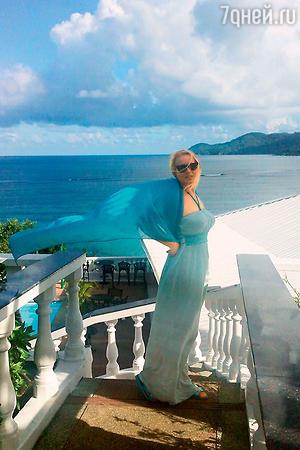Елена Кондулайнен на Сейшельских островах