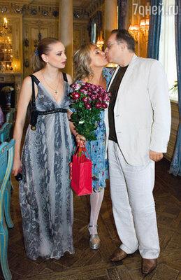 С бывшим мужем Максимом Дунаевским и его нынешней супругой Мариной