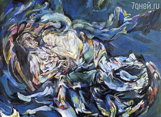 Художник так охарактеризовал свою картину «Невеста ветра»: «Это Альма и я, слившиеся в неразрывном объятии, затерянные в буре стихий, навеки вместе... Нас невозможно разлучить». Репродукция картины Оскара Кокошки «Невеста ветра», 1913 г.