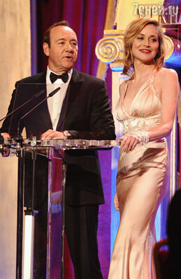 Ведущие вечера: актёры Кевин Спейси и Шэрон Стоун