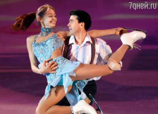 С фигуристом Алексеем Урмановым в проекте канала «Россия» «Танцы на льду. Бархатный сезон»