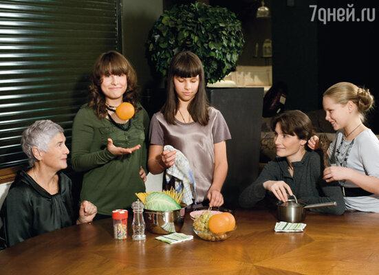 Мои главные помощницы: мама, Анфиса, Дуся и Варя