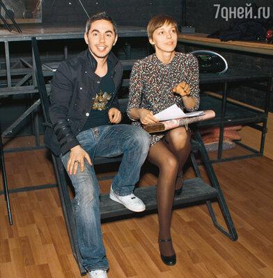 Тимур Родригез и Нелли Уварова во время репетиции
