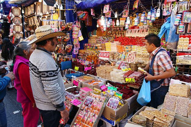 Уличный рынок, Мехико