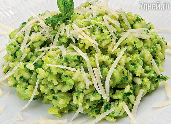 Рис с фасолью и зеленью