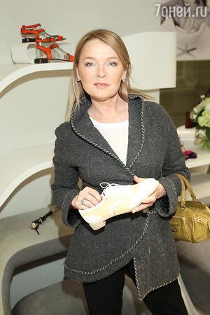 Лариса Вербицкая на  презентации весенне-летней коллекции обуви