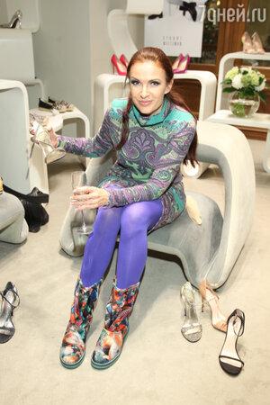 Эвелина Блёданс на  презентации весенне-летней коллекции обуви