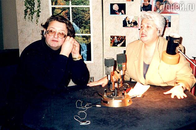 Диана Берлин с Александром Градским на «Радио-1»