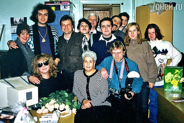 Диана Берлин с Аллой Пугачевой, Филиппом Киркоровым и командой «Авторадио»