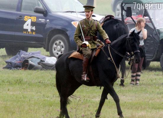 На съемках картины «Боевой конь» Бен выложился на все сто