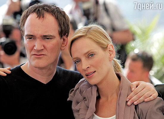 Ума Турман и Квентин Тарантино на Каннском кинофестивале. 2004 г.