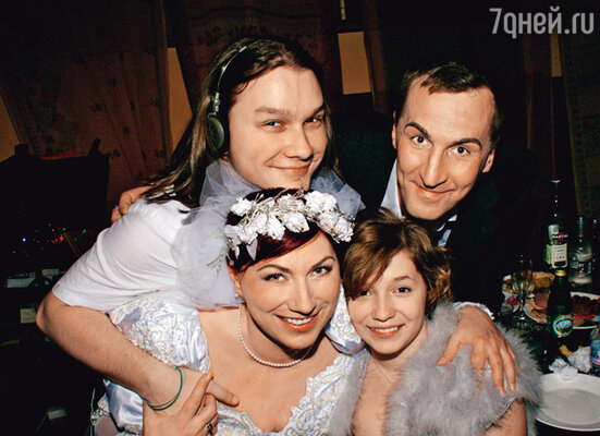 Свадьба. Роза с мужем и детьми. 2008 г.