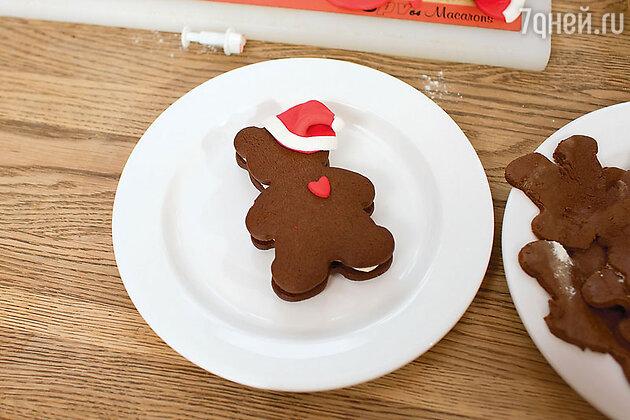 Новогоднее печенье «Мишка Тедди»