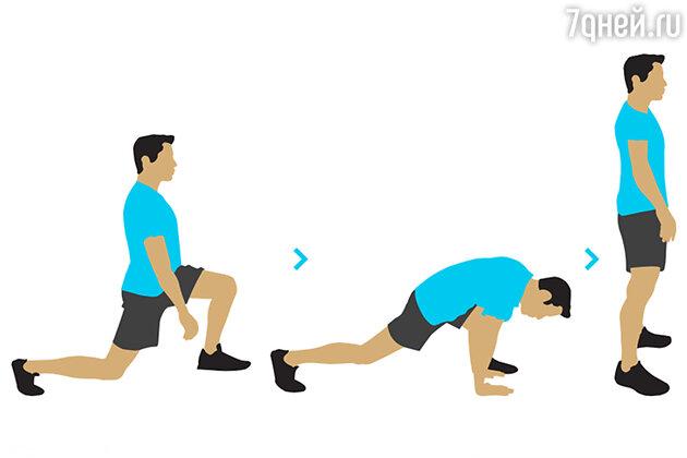 Упражнение № 4. Выпады с наклонами