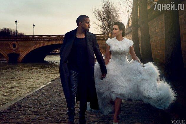 Канье Уэст и Ким Кардашьян для Vogue