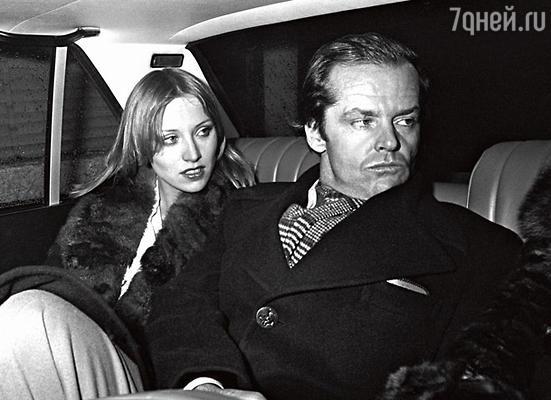 С датской супермоделью Винни Холлман. Париж, 1976 г.
