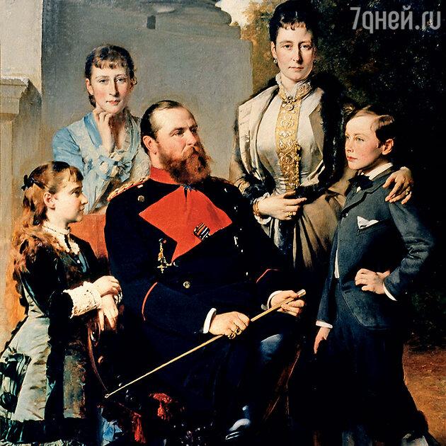 Семья  герцога Гессен-Дармштадтского