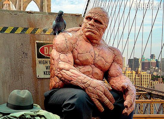 Костюм Майкла Чиклиса (существо из «Фантастической четверки») был невероятно тяжелым и «жарким»