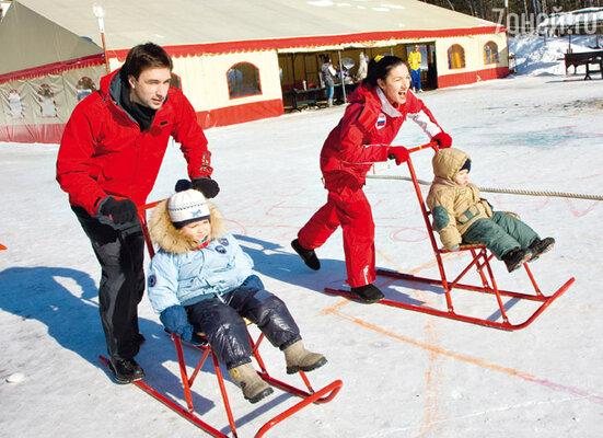 Свой выходной день Антипенко решил провести с семьей на природном курорте «Яхонты»
