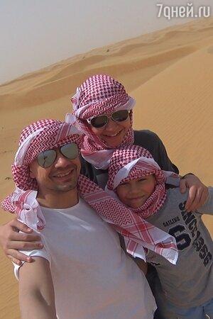 Алексей Серов с сыновьями Марком и Ричардом