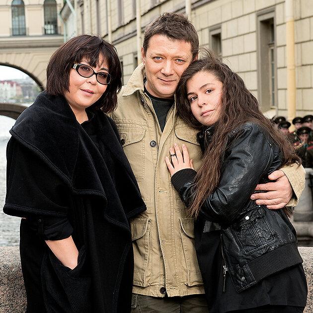 Ян Цапник с женой Галиной и дочерью Елизавтетой