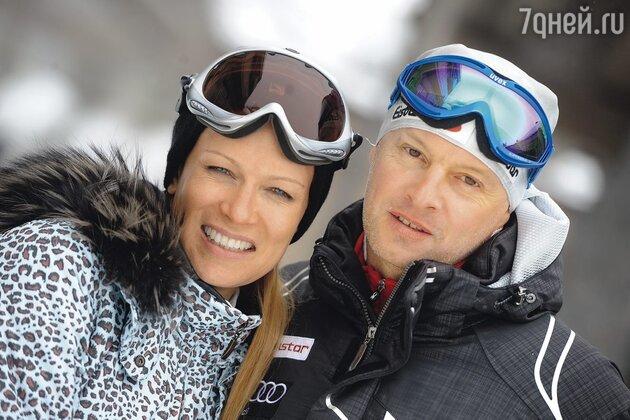 Олеся Судзиловская с мужем Сергеем Дзебанем