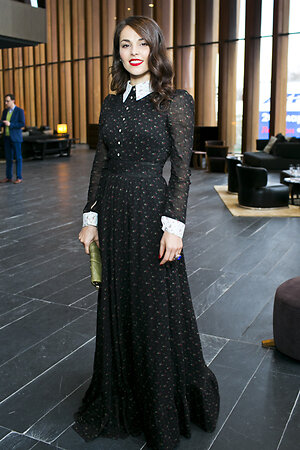 Сати Казанова на премьере фильма «Красавица и чудовище»