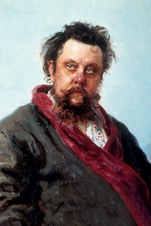 Фото репродукции портрета М.П. Мусоргского работы И. Репина