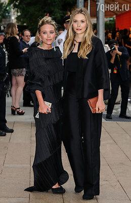 Мэри-Кейт и Элизабет Олсен (в Issey Mikyakeи The Row, соответственно)