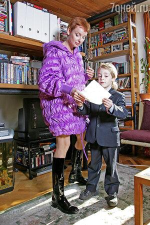Жанна Эппле с сыном