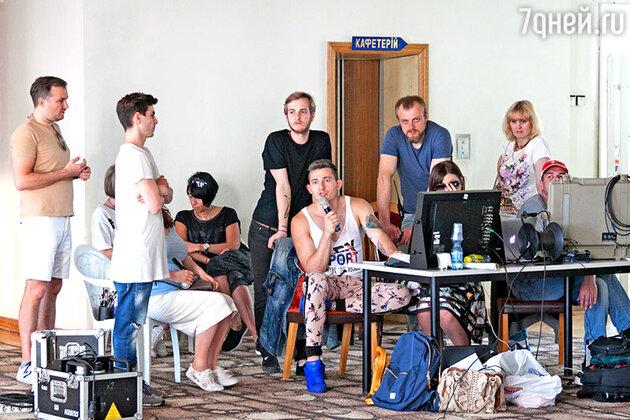 Съемки клипа на песню «Шпилька-каблучок»