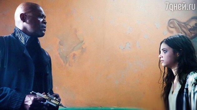 Сэмюэл Л. Джексон (Samuel L. Jackson) и Индиа Айсли (India Eisley) в фильме   «Кайт»