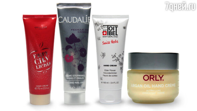 1.����������� ���� ��� ���, Oriflame; 2.���������� ���� ��� ��� � ������ Mains and Nail Cream, Caudalie; 3.���� ��� ����� ���� ��� ToitBel; 4.���� ��� ��� � ��������� ������ Orly