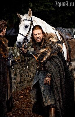 Нед Старк — благородный воин из сериала «Игра престолов»