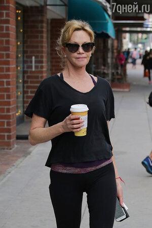«Чашка кофе утром —это интимное дело, мой настрой на весь день, — говорит Мелани Гриффит