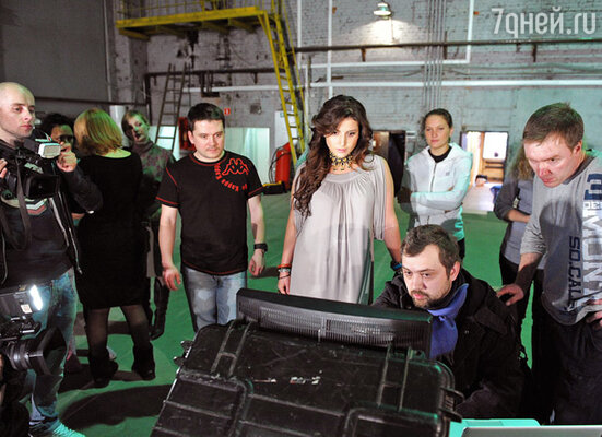 Съемочная группа клипа, во главе с режиссером  Алексеем Голубевым и Жасмин