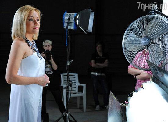 Татьяна Буланова во время съемок